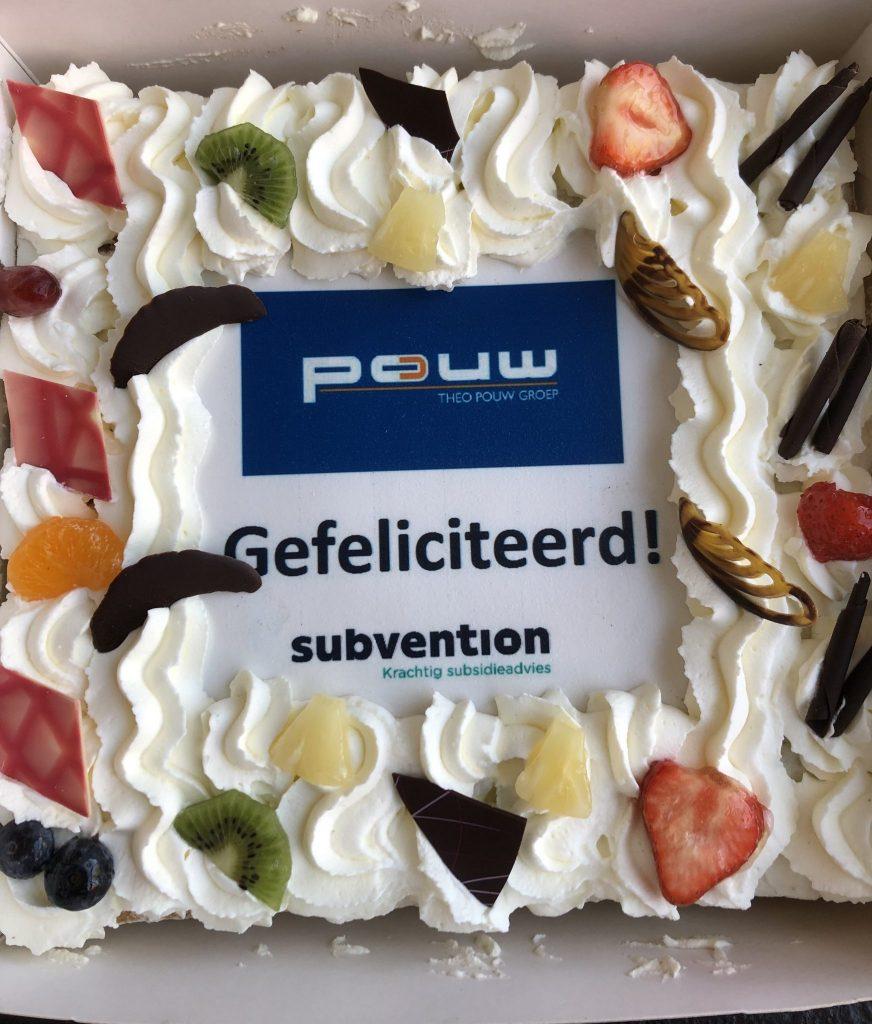 Subvention feliciteert Theo Pouw voor duurzaamheidsinspanningen
