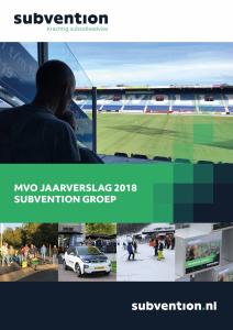 Subvention MVO jaarverslag 2018