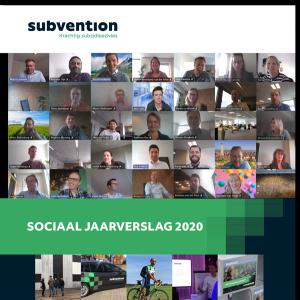 Voorblad van Sociaal Jaarverslag Subvention 2020